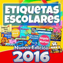 Etiquetas Escolares Kit 2016 + 7 Mil Imagenes 5 Gb