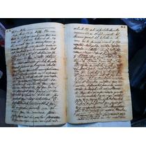 Antiguo Documento De 1850 Y 1851 Papel Sellado,selló Cuarto