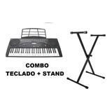 Teclado Musical 54 Teclas Con Soporte  Kaiser  Mtc-5480pak