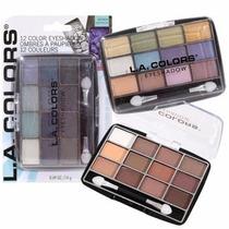 Paleta Con 12 Colores De Maquillaje En Su Empaque