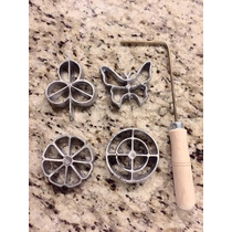 4 Piezas Moldes Buñueleros Resistentes Y C/ Receta Buñuelos
