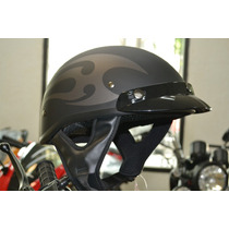 Casco Gpx Shorty Flames Negro Mate Talla L
