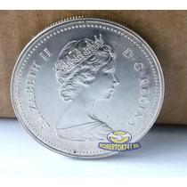 Moneda De Plata Proof 1 Dolar Tren De Vapor Canada 1981