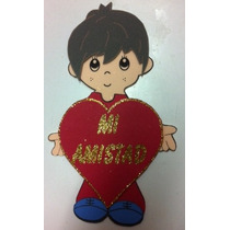 Figura De Foamy Niño Con Corazon Amor Fomi