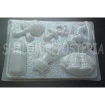 *molde Mediano Gelatinas Jabon Baby Shower Bebe 6 Figuras*
