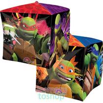 2 Globos Metalico Cubez O Cubo Tortuga Ninja P/ Helio