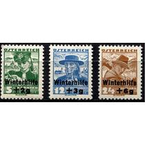 2770 Austria Semi Postales Trajes Típicos 3 S Mint N H 1935