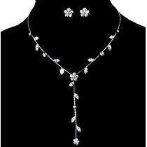 Collar Y Aretes Exquisitos Cristal Swarovski Elements Evento