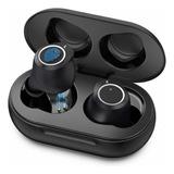 Audifonos Bluetooth Microfono Con Sonido Estéreo Hi-fi Negro
