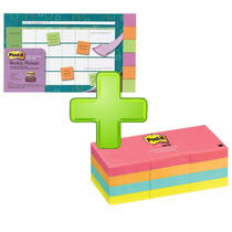 Kit Planeador Semanal Notas Adesivas Super Sticky Post-it 3m
