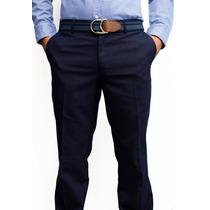 Pantalón De Vestir Azul Marino Marca Concrete