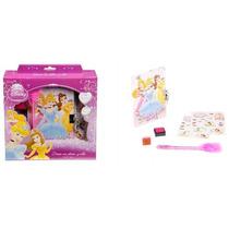 Fiesta Princesas Disney Set De Diario Con Estampas Y Sellos