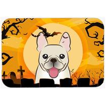 Bulldog Francés De Halloween De Cocina O Baño Mat 24x36 Bb
