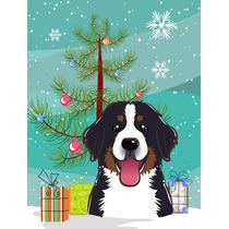 Árbol De Navidad Y Perro De Montaña Jardín Bandera Tamañ