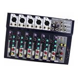 Mezcladora 7 Canales Con Estuche Y Microfono