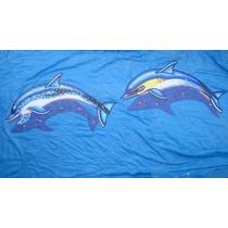 Mosaico Delfines Amarillo Y Moteado Con Sombra Para Alberca