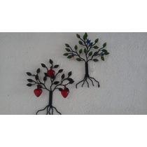 Árbol Portallaves De Herrería Con 3 Corazón/colibrí (pared)