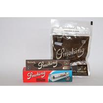 Paquete Smoking King Size, Papel, Filtros Y Roladora 110mm
