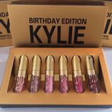 Set Kylie Jenner Birthday Edition 6 Labial Mini Envio Gratis