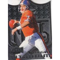 1997 Metal Universe Titanium Dc Nfl Logo John Elway Broncos