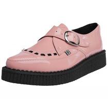 Zapato Dama Estilo Urbano 1 Hebilla Pointed Creeper Rosa Tuk
