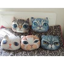 Cojines Almohadas En Forma De Gato Animales Varios Diseños