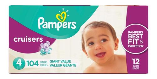 Pampers Cruisers Etapa 4, 104 Pañales Unisex