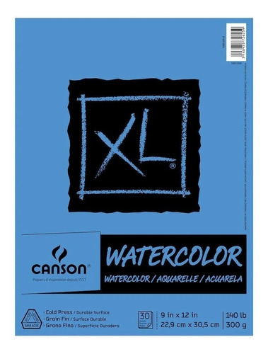 Xl Watercolor Canson 300g 22.9  Acuarela