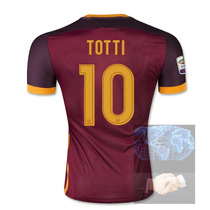 Jersey #10 Totti Roma Vino Local Nike 2016 Roja Playera Cami