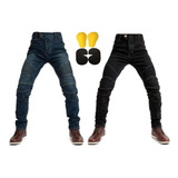 Pantalon Motociclista Mezclilla Protecciones Moto Jeans Ce