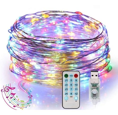 Tira Luces Led Decorativas Multicolor 10m Sync Con Músic Usb