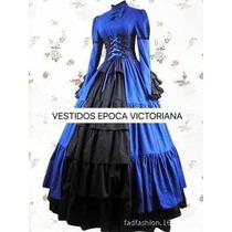 Vestido De época Victoriana Disfraz Halloween Catrina En
