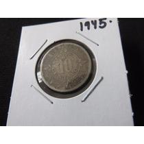 Moneda 10 Centavos 1945 Calendario Azteca