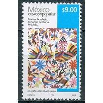 Sc 2501 Año 2012 Creacion Popular Mantel Bordado 9 Pesos Rev