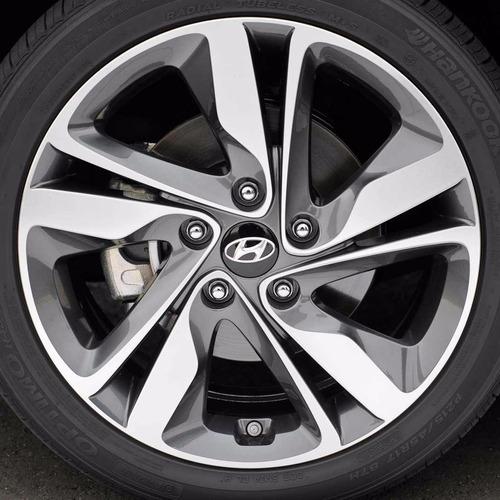 4x Centro Tapón De Rin Hyundai 60mm Negro  - Envío Gratis Foto 3
