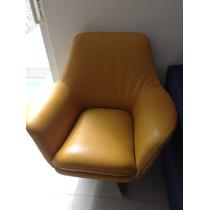 Sofa Giratorio Amarillo De Piel 100% Diseñador