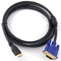 Cable Hdmi A Vga Hd-15 Macho-macho Monitor 3 Metros Laptop