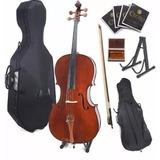 Violonchelo Chelo Cecilio Cco-300 Cello 4/4 + Accesorios