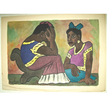 Diego Rivera Excelente Litografia Acuarelada Publicada