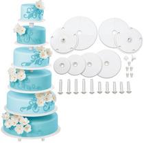 Base Para Pastel Cupcakes 6 Pisos Elegante Boda Wilton