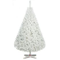 Arbol De Navidad Monarca De Lujo Blanco 220cm Alt