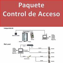 Paquete Control De Acceso Con Huella, Tarjeta, Chapa Magneti