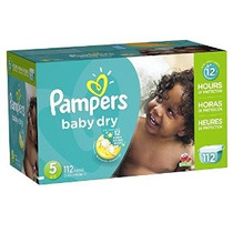 Pampers Baby Dry Pañales Paquete Gigante Tamaño 5 112 Conde