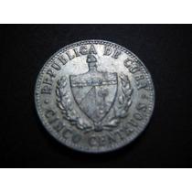 Cuba Cinco Centavos Fecha 1968 Aluminio 21 Mm