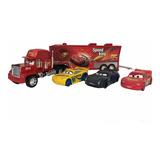 Cars Trailer Mack De Fricción 50 Cm + 3 Vehículos