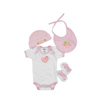 Kit Bebe Paseo De 0 De 3 Meses-rosa Ropa Bebe Baby Mink
