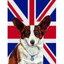 Corgi Con Inglés Union Jack Británica Bandera De La Bander