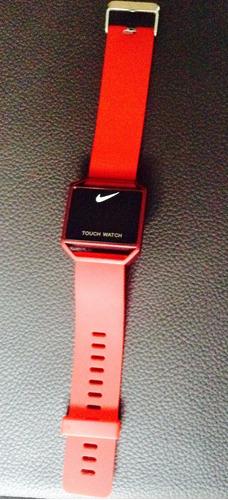 7e5cd1fb1c7c Reloj Nike Touch Color Rojo Delgado