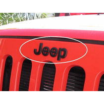 Emblema Jeep Liberty Cherokee Wrangler Negro Frontal Cofre