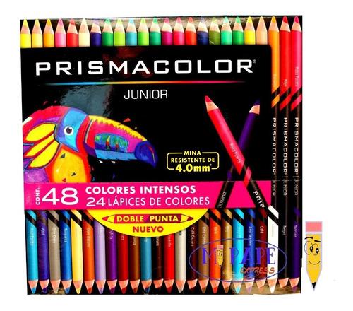 24 Lapices Doblecolor (48 Colores) Largos Prismacolor